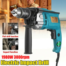 """1980W Brushless Motor Electric Corded Impact Drill 1/2"""" Chuck 3800rpm High speed"""