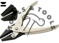 PARALLEL ACTION HALF ROUND FLAT NOSE PLIERS JEWELLERY CRAFTS BEADS SMOOTH JAWS