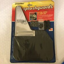 Powerflow Splashguards Stainless Steel And Black Extra Wide New In Package