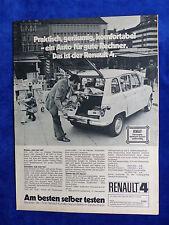 Renault 4 - Werbeanzeige Reklame Advertisement 1972 __ (735