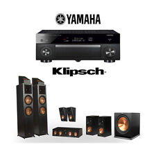Klipsch RP-8000F 5.1.4 Dolby Atmos Home Theater System with Yamaha RX-A1080
