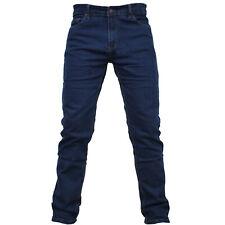Jeans Uomo Regular Fit Elastico Vita Alta Classico Gamba Dritta Pantalone Denim
