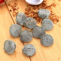 10pcs Tobacco Smoking Pipe Silver Screen Filter Metal Ball Promotion Combustion