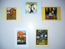 Lot  5  Cartes Postales   CHATS   Illustration  Marc Doyle  Cats