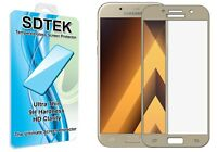 SDTEK Full Screen Glass Protector for Samsung Galaxy A5 2017 (Gold)