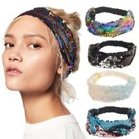 Womens Shiny-Sequins Headband Party Hairband Makeup Hair Band Accessories Party