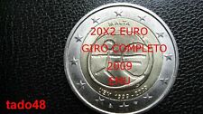 * 10 anni EURO 2009  EMU 20 x 2 euro fdc TRA CUI MALTA E CIPRO