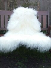 Real icelandic sheepskin rug colour white 120-80cm/24
