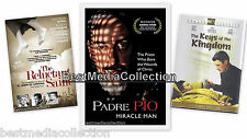 3 DVD's Padre Pio / The Reluctant Saint / The Keys Of The Kingdom DVD NEW SEALED