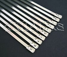 """25 STAINLESS STEEL CABLE TIES STRAPS CLAMPS WRAP 8"""""""