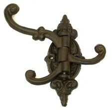 Reproduction Cast Iron BROWN Swivel Wall Hook Hanger Wall Mount  Home Decor