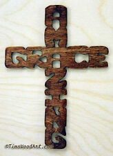 Amazing Grace Cross, New Handmade Wood, for Wall Hanging or Ornament, Item S4-3