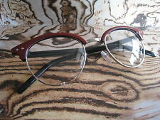 Red Club-master Retro Vintage Nerd Geek Clear Lens Fashion Glasses 50s