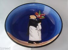 Tracy Flickinger Blue Pasta Soup Bowl Dinner is Served Italian Waiter Dansk