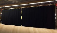 Lot of (2) Black Stage Curtain/Backdrop/Partition, 8 H x 15 W each, Non-FR