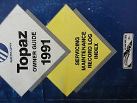 1991 Mercury Topaz Owners Manual