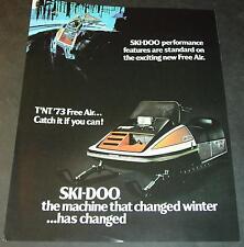 RARE 1973 SKI-DOO T'NT FREE AIR SNOWMOBILE SALES BROCHURE