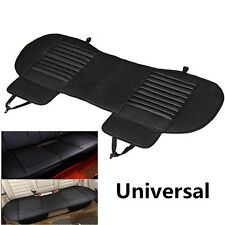 Universal Black Leather Car Cover Rear Seat Cushion Beathable Fiber Easy Clean