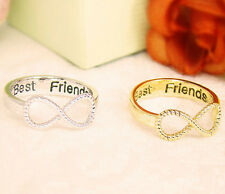 Friendship Ring Best Friends Letter Engraved Women Jewelry Gold
