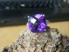 Zambian Amethyst and White Topaz Silver Ring by Gems TV/Gemporia/TGGC
