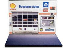 Diorama présentoir Chrysler Simca - Duquesne Autos - 1/43ème - #43-2-A-A-024
