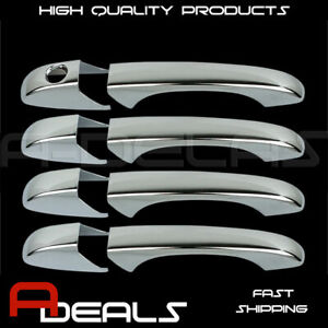 FOR CHRYSLER TOWN & COUNTRY 2008 09 10 11 2012 CHROME 4 DOOR HANDLE COVER