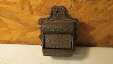 Antique Parker Cast Iron Match Holder 1870