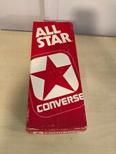 Old Vtg ALL STAR CONVERSE Basketball EMPTY Shoe Sneaker Box Red & White