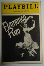 FLAMENCO PURO - PLAYBILL - NOVEMBER 1986