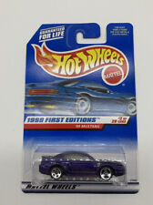 1999 Hot Wheels Lot Of 2 purple '99 Mustang first editions 3sp 5sp moc 2/26 #909