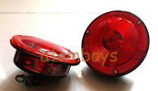 x2 FOR JEEP CJ6 CJ 6 RED SIGNAL REAR TAIL LIGHTS NEW
