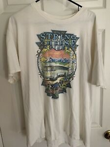 Vintage 1999 THE STRING CHEESE INCIDENT Tour Bus T-Shirt - Men's XL
