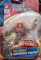 OPTIMUS PRIME - TransFormers - Fast Action Battlers - Fire Blast - figure - New