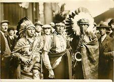 """UNITED STATES INDIAN RESERVATION BAND 1931"" Photo originale G. DEVRED/ Agce ROL"