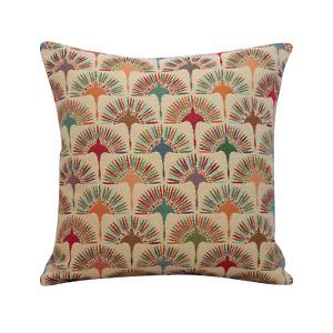 "Multicoloured Dandelion Tapestry Cushion. 17x17"" Square. Geometric Floral Design"