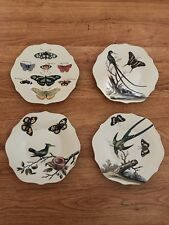 Williamsburg Garden Story Creative Co-op plates set of 4 designs
