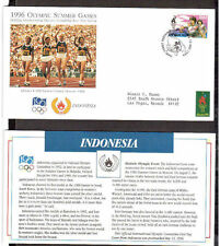 1996 Olympic Games First Day Covers.Indonesia Stamp.1980 USSR/Soviet.Athletics