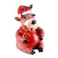 Miniature Christmas Reindeer Micro Landscape Resin Decoration Craft Fairy