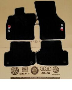Original Audi A3 S3 8V S-Line Velour Floor Mats Carpets 4pcs Front & Rear LHD