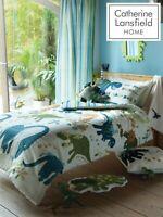 "Catherine Lansfield Kids Children's ""Dino"" Duvet Cover Bedroom Collection Green"