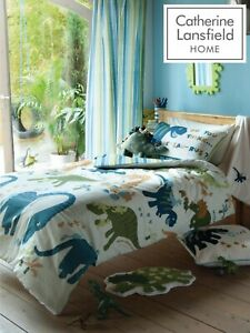 "Catherine Lansfield Kids Children's ""Dino"" Duvet Cover Bedroom Collection Green"