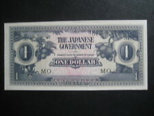 JAPANESE MALAYA OCCUPATION MONEY - ONE DOLLAR 1942 - SERIES MO - EXCELLENT