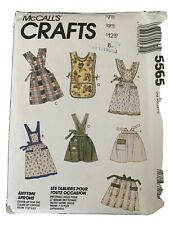 McCall's 5565 Aprons Chef Smok Vintage Inspired Housekeeper 1990s Pattern