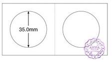 "PCCB 35mm Cardboard Staple 2""x2"" Coin Holders X 50 Pcs"