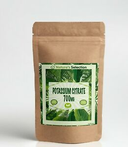 Potassium Citrate 700mg Capsules High Strength Vegan Natural No Additives