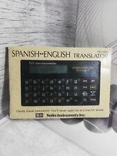 SII Sieko TR-1400 SPANISH ENGLISH Translator RARE JAPAN Vintage Tested Working