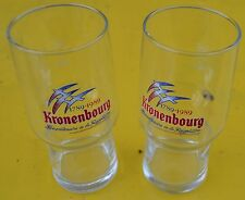 Lot de 2 verres à bière Kronenbourg 25 cl, collector, bicentenaire de 1789