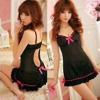 Lady Sexy Lingerie Set Lace Underwear Babydoll Dress Sleepwear Pajamas G-string