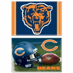 """FOUR (4) CHICAGO BEARS 2"""" X 3""""  MAGNETS FROM WINCRAFT"""