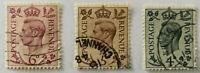 3 x George VI Stamps 4d, 5d & 6d 1937